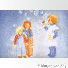 Blowing Bubbles Postcard 1 piece