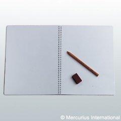Spiral BD.Main lesson book - portrait format - 24x32cm/ 12.6x9.45 inch - no onion skin, 1 book