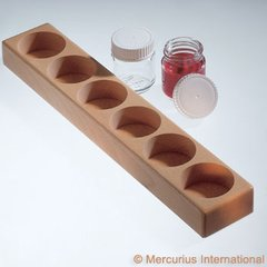 Wooden holder for 6 glass paint jars 50 ml (no jars)