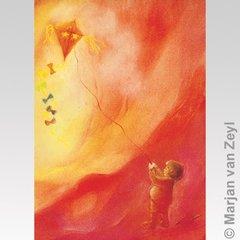 Kite Flying postcard, 1 piece