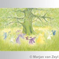 Dancing Elves postcard 1 piece