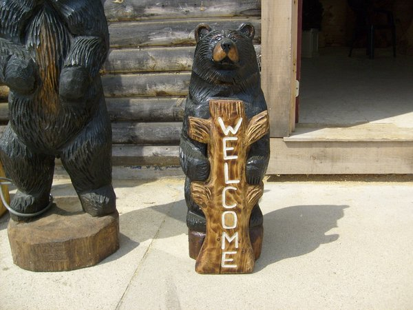 Chainsaw carvings ft black bear please click on