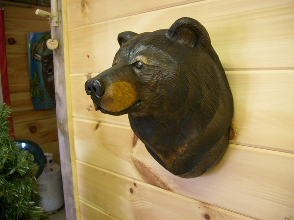 Hand carved black bear mount free shipping in usa
