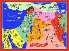 "Bible Story Map, 18"" x 24"", Laminated"