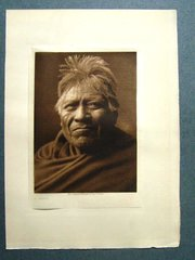 Edward S. Curtis: A. Papago (Framed)