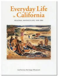 Everyday Life In California - Regional Watercolor 1930-1950