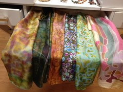 Silk Worn by Amy Yasbeck: Long silk scarves in an array of beautiful colours and designs