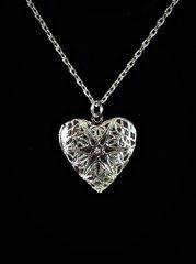 Heart Locket Platinum Diffuser Necklace