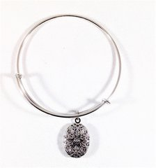 Bangle Silver Bracelet Aromatherapy Diffuser