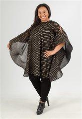 Polka Dot Cold Shoulder Dress / Top