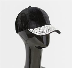 """Louise"" Blinged Velour Hat"