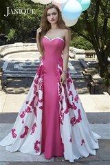 Janique by Kourosh Strapless Floral Panel Dress