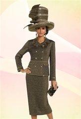 Donna Vinci 13220 Knit Embellished 2pc Suit
