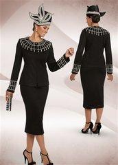 Donna Vinci 13200 Knit Embellished 2pc Suit