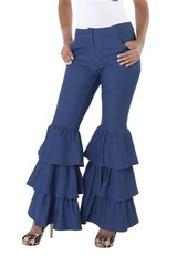 """Jazzy"" Tiered Bell Bottom Pant"