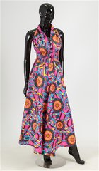 """Keitha"" Authentic African Print Jumpsuit"