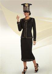 Donna Vinci 13221 Knit Embellished 2pc Suit