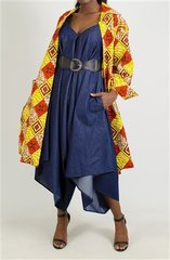 Authentic African Print Split Back Jacket