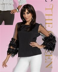 """""""Ouise"""" Ruffled Feather Top"""