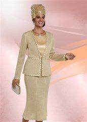 Donna Vinci 13217 Knit Embellished 3pc Suit