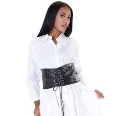 One piece waist trainer belt