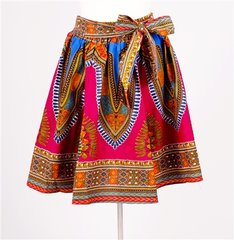 African Fabric Print Elastic Skirt
