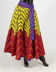 African Fabric Print Cropped Wide Leg Pant