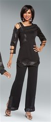Donna by DV Quilted Faux Leather Pant Set