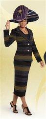 Donna Vinci 13210 Knit Embellished 2pc Suit