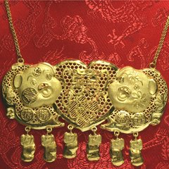 24K Happy Lucky Pigs Necklace