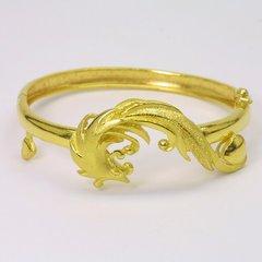24K Gold Phoenix Bangle