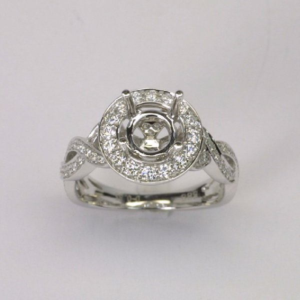 18K W/G Diamond Setting