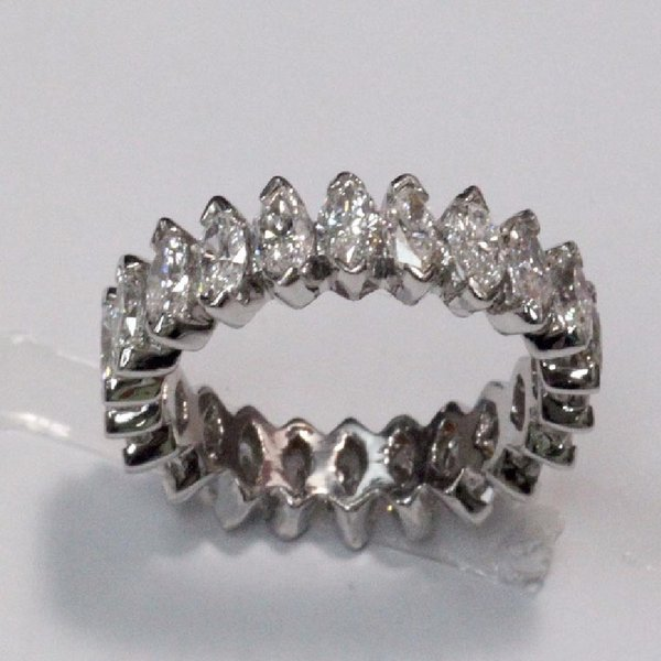 14K W/G Diamond Eternity Ring