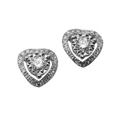 18K W/G Diamond Earrings