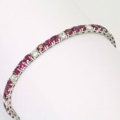 18K W/G Diamond Ruby Bracelet