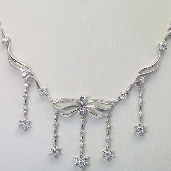 18K W/G Diamond Necklace