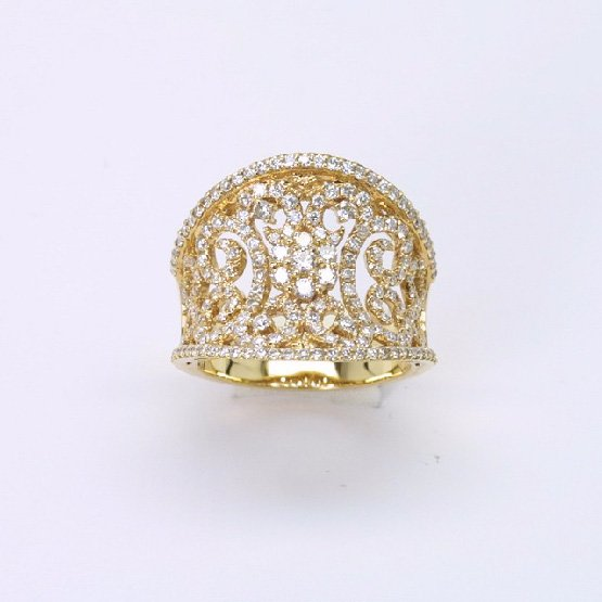 18K Y/G Diamond Ring