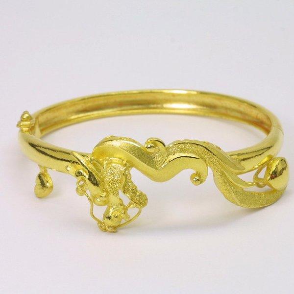 24K Gold Dragon Bangle