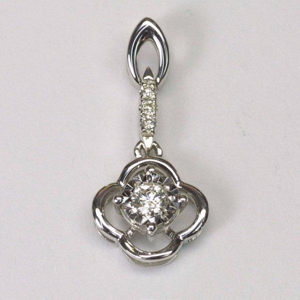18K W/G Diamond Pendant