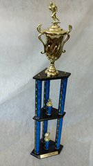 3 PILLAR TROPHY - DUAL LEVEL - (STORE PICK-UP ONLY)