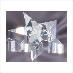 STAR OPTICAL CRYSTAL PAPER WEIGHT