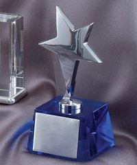 STAR BLUE CRYSTAL - CRYSTAL AWARDS
