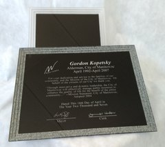 STONE TRIPLE EDGE PLAQUE