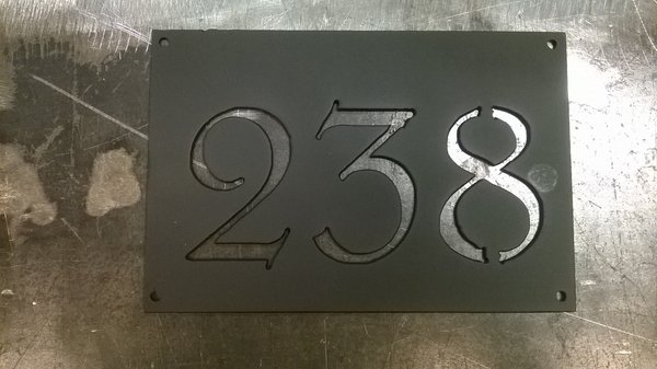 Address Number Plate Apartment Numbers Metal Sign Custom Design ...