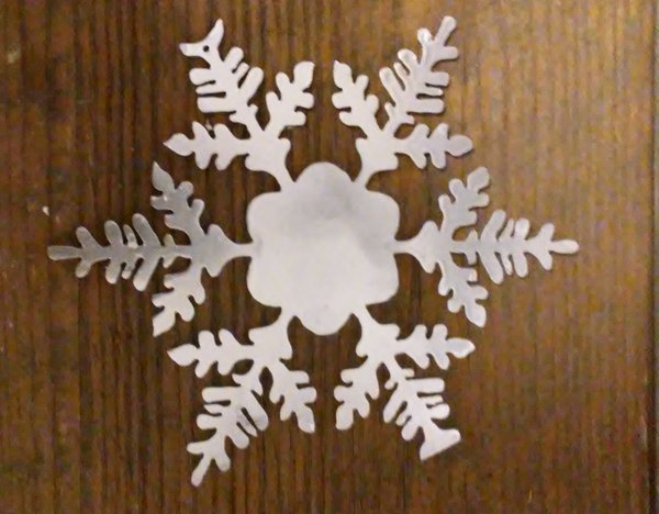 Quot metal snowflake ornament christmas decoration cutting