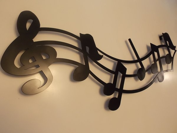 36 Metal Musical Notes Wall Art In Black Rust Finish Home