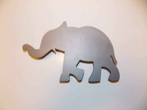 Small Metal Wall Art small elephant metal wall art | cutting edge craftsmen metal