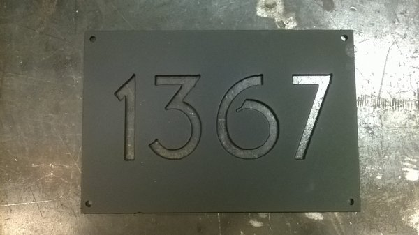 Address Number Plate Apartment Numbers Metal Sign Custom