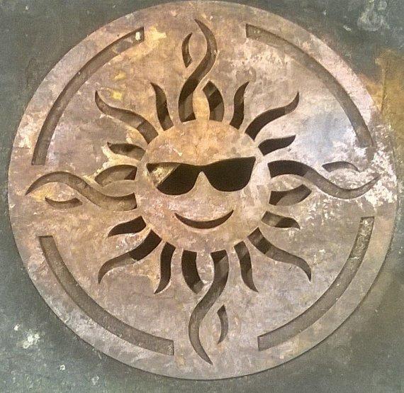 Outdoor Sun Wall Art metal sun wall art yard art fun in the sun | cutting edge