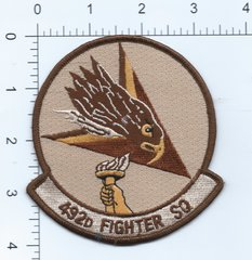USAF PATCH 492 FIGHTER SQUADRON EARLY F-15E DESERT ISSUE RAF LAKENHEATH